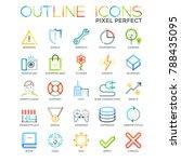 big set of unusual pictograms... | Shutterstock .eps vector #788435095