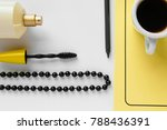 top view of women's business... | Shutterstock . vector #788436391