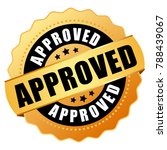 approved gold vector stamp... | Shutterstock .eps vector #788439067