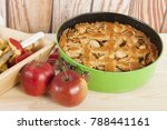 home made apple pie with fresh... | Shutterstock . vector #788441161