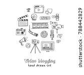 hand drawn doodle video... | Shutterstock .eps vector #788442829