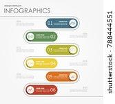 infographic template. vector... | Shutterstock .eps vector #788444551