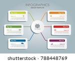 infographic template. vector... | Shutterstock .eps vector #788448769