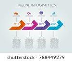 infographic template. vector... | Shutterstock .eps vector #788449279