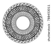 round greek ornament with... | Shutterstock .eps vector #788453011