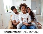 picture of happy family... | Shutterstock . vector #788454007