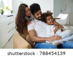 happy family having fun times | Shutterstock . vector #788454139