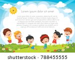 Kids Playing Outside | Shutterstock vector #788455555