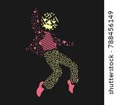 a man dance in unique... | Shutterstock .eps vector #788456149