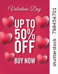 valentines day sale red pink... | Shutterstock .eps vector #788456701