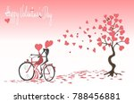 valentine's day background with ... | Shutterstock .eps vector #788456881