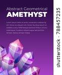 ultraviolet amethyst gemstones...   Shutterstock .eps vector #788457235