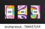 abstract geometrical papercut...   Shutterstock .eps vector #788457259