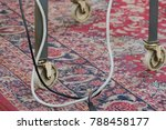 A Cable On A Carpet Under A...