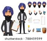indian business man cartoon... | Shutterstock .eps vector #788459599