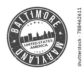 baltimore maryland usa stamp... | Shutterstock .eps vector #788462611