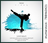 karate warrior  sport... | Shutterstock .eps vector #788463421