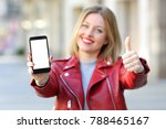 front view of a fashion happy... | Shutterstock . vector #788465167