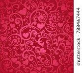 wine color valentine's day... | Shutterstock . vector #788467444