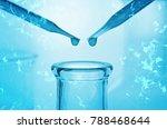 science laboratory dropper on... | Shutterstock . vector #788468644