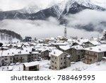 caspoggio in winter  small... | Shutterstock . vector #788469595