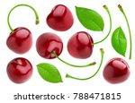 cherries collection. cherry...   Shutterstock . vector #788471815