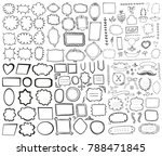 set of hand drawn frames and... | Shutterstock .eps vector #788471845