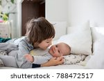 two children  baby and his... | Shutterstock . vector #788472517