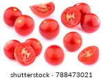 cherry tomatoes isolated on... | Shutterstock . vector #788473021