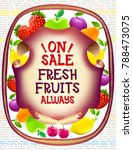market advertising food poster... | Shutterstock .eps vector #788473075