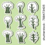 hand drawn trees | Shutterstock .eps vector #788473405