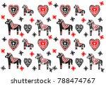pattern in scandinavian style... | Shutterstock . vector #788474767