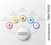 five colorful round elements... | Shutterstock .eps vector #788478505