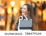 portrait of a happy fashion... | Shutterstock . vector #788479144
