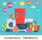 discounts on appliances. gifts... | Shutterstock .eps vector #788483221