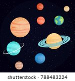 planets of the solar system.... | Shutterstock .eps vector #788483224