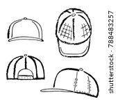 baseball  tennis  rap cap... | Shutterstock . vector #788483257