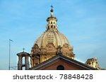 Cupola Petersdom in Rome. Italy. - stock photo