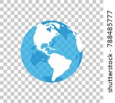 the globe on a transparent... | Shutterstock .eps vector #788485777