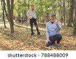 virtual proposing. man... | Shutterstock . vector #788488009