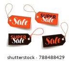 sale  price tag. shopping ... | Shutterstock .eps vector #788488429