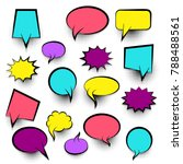 colored idea conversation... | Shutterstock .eps vector #788488561