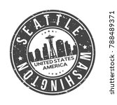 seattle washington usa stamp... | Shutterstock .eps vector #788489371