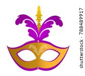 isolated mardi gras mask with... | Shutterstock .eps vector #788489917