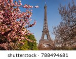 eiffel tower during spring time ... | Shutterstock . vector #788494681