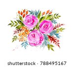 watercolor gorgeous bouquet....   Shutterstock . vector #788495167