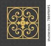 vintage baroque ornament. retro ... | Shutterstock .eps vector #788498491