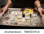 the girl carries a tequila and... | Shutterstock . vector #788501914