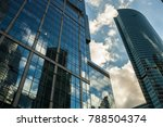 detail blue glass modern office ... | Shutterstock . vector #788504374