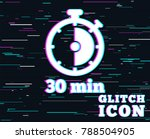 glitch effect. timer sign icon. ... | Shutterstock .eps vector #788504905